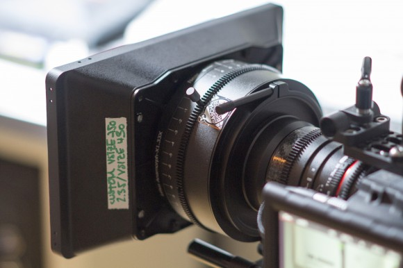 Letus Anamorphix Adapter on a Samyan 35/T1.5 Cine